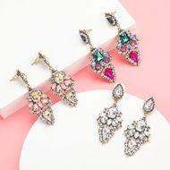 Aretes de diamantes de imitación de aleación bohemia para mujer NHJE192775
