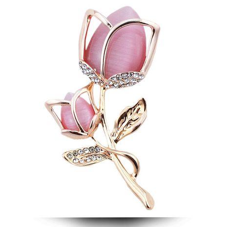 Exquise mode européenne et américaine style coréen diamant opale tulipe personnalisé tempérament broche NHSC193573's discount tags