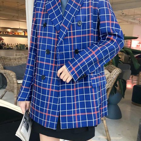 Wholesale new ladies loose fashion casual retro suits NHAM192784's discount tags