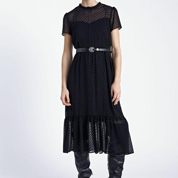 Vestido largo negro de las nuevas mujeres al por mayor que se reúne las mujeres del vestido de tul NHAM192829