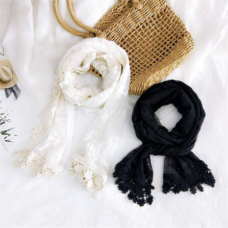 New Lace Lace Solid Color Long Scarf Women Winter Aquarius Scarf Decorative Scarf NHMN192931's discount tags