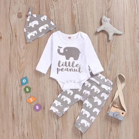 Vêtements enfant mode trois pièces imprimé éléphant NHYB193038's discount tags