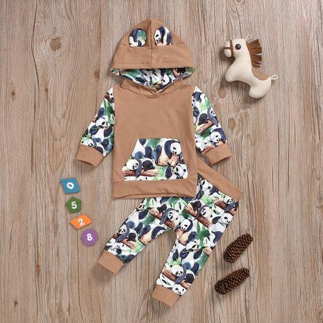 Vêtements pour enfants de mode panda imprimés 2 pièces en gros NHYB193043's discount tags