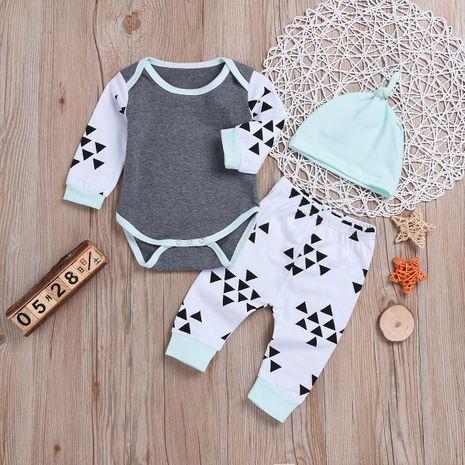 Nouveaux vêtements pour enfants garçon costume col rond gris hakama pantalon chapeau mode costume trois pièces NHYB193047's discount tags