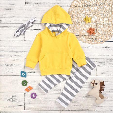 Ensemble de bandeau de pantalon de chandail à capuchon de costume pour enfants NHYB193054's discount tags