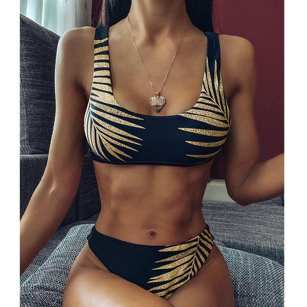 Bikini sexy negro traje de baño de las mujeres al por mayor NHDE193156