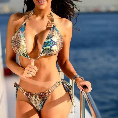 Maillot de bain femme en gros bikini sexy à motif de serpent NHDE193182's discount tags