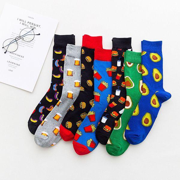 Nuevos calcetines al por mayor calcetines de tubo de aguacate de frutas NHZG193219
