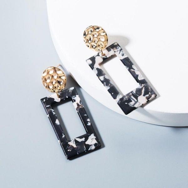Fashion Hot Earrings Women Acetate Long Earrings Geometric Acrylic Stud Earrings NHLN193232