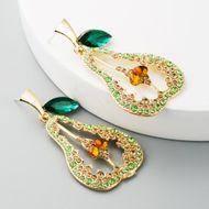Women's Earrings Creative Hollow Pear Shaped Earrings NHLN193235