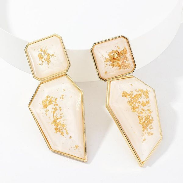 Women's irregular acrylic earrings geometric earrings women NHNZ193243