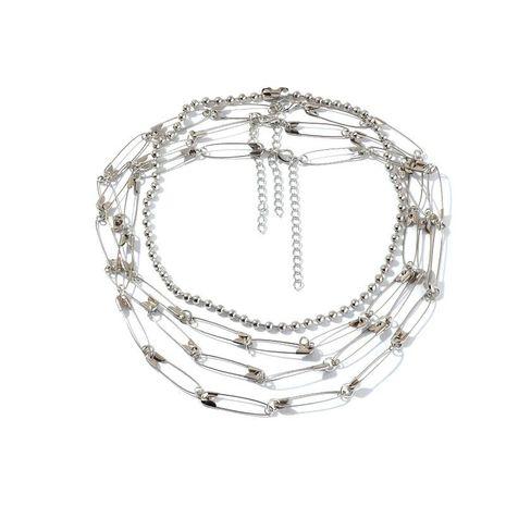 Joyería pin collar de metal collar multicapa NHNZ193258's discount tags