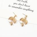 Jewelry Fashion Metal Leaf Pearl Earrings Symmetrical Branch Ear Stud Earrings NHNZ193273