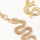 Accessories alloy studded keychain with diamond snake element zodiac dragon key ring set NHNZ193276