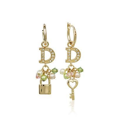 Aretes de diamantes exquisitos pendientes de perlas con cierre de corazón hermosas joyas Pendientes coreanos al por mayor NHLJ193313's discount tags