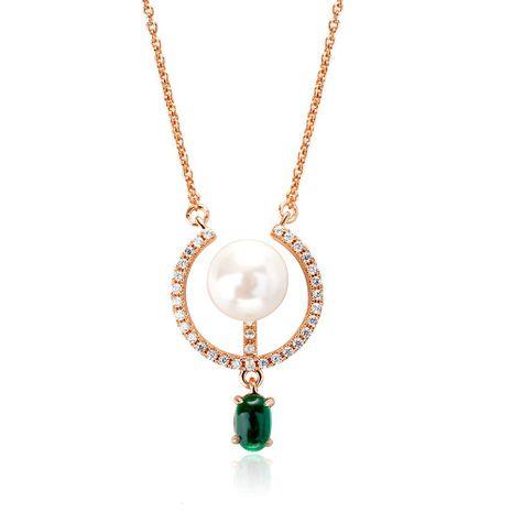 Versión coreana del collar de esmeraldas de moda, cadena de clavícula de cadena de párrafo corto  NHLJ193314's discount tags