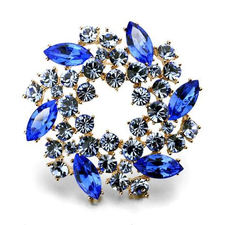 Hot sale wholesale fine bauhinia crystal brooch jewelry NHLJ193322's discount tags