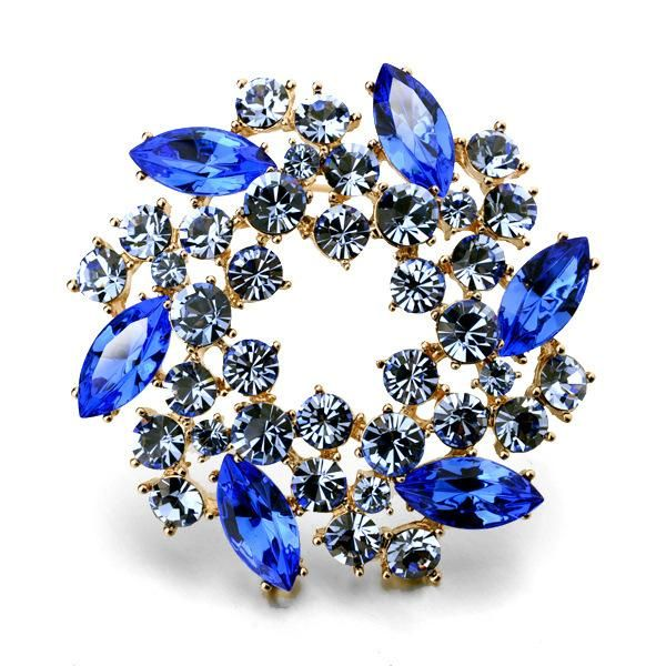 Hot sale wholesale fine bauhinia crystal brooch jewelry NHLJ193322