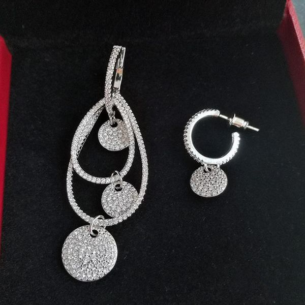 Fashion earrings slightly inlaid with AAA zircon NHLJ193329