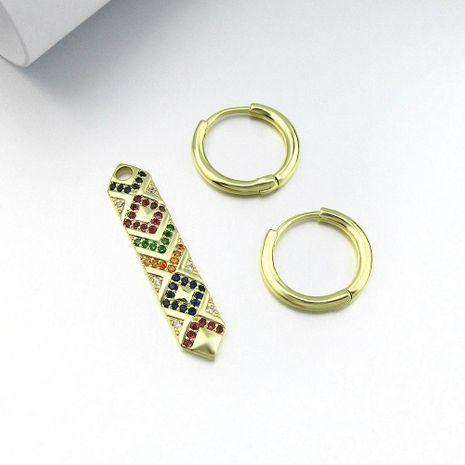 Nuevos pendientes de color femenino con rayas simples pendientes retro pendientes clips de oreja NHLJ193332's discount tags