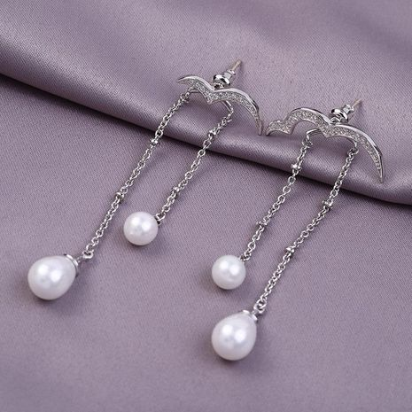 Nuevos aretes de gaviota largos borla pendientes de plata esterlina para mujer NHLJ193336's discount tags