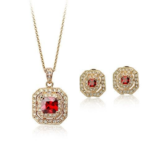 New fashion high-end exquisite jewelry set with Austrian crystal NHLJ193342
