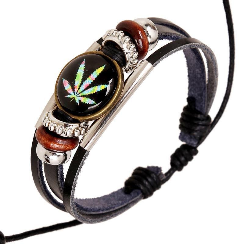 New jewelry beaded woven leather bracelet NHPK193356