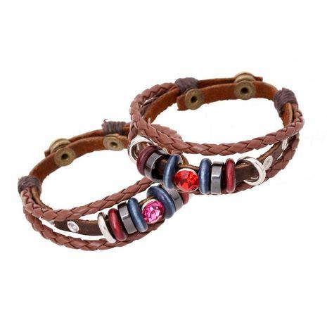 Bracelet vintage en cuir fait main bracelet en cuir NHPK193398's discount tags