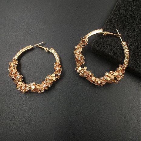 Aretes circulares de diamantes envueltos NHWK193423's discount tags