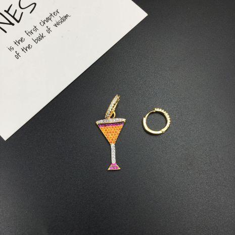 Aretes asimétricos de cristal de cóctel NHWK193429's discount tags