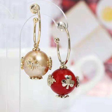 Aretes de perlas creativas de personalidad de moda. NHWK193436's discount tags