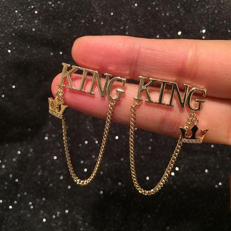 Aretes de borla de cadena del príncipe del alfabeto NHWK193439's discount tags