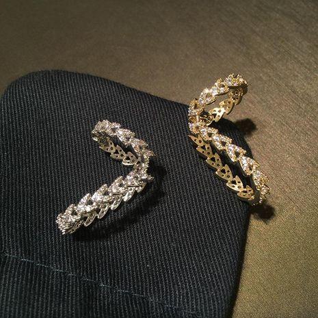 Aretes de oreja de trigo de moda coreana pendientes geométricos irregulares de microconjunto NHWK193455's discount tags