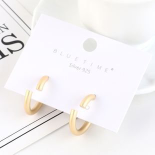 Fashionable wild gold-plated hollow S925 silver earrings NHPS193462's discount tags