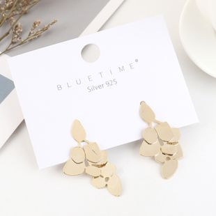 Korean simple fashion real gold plated creative S925 silver earrings NHPS193463's discount tags