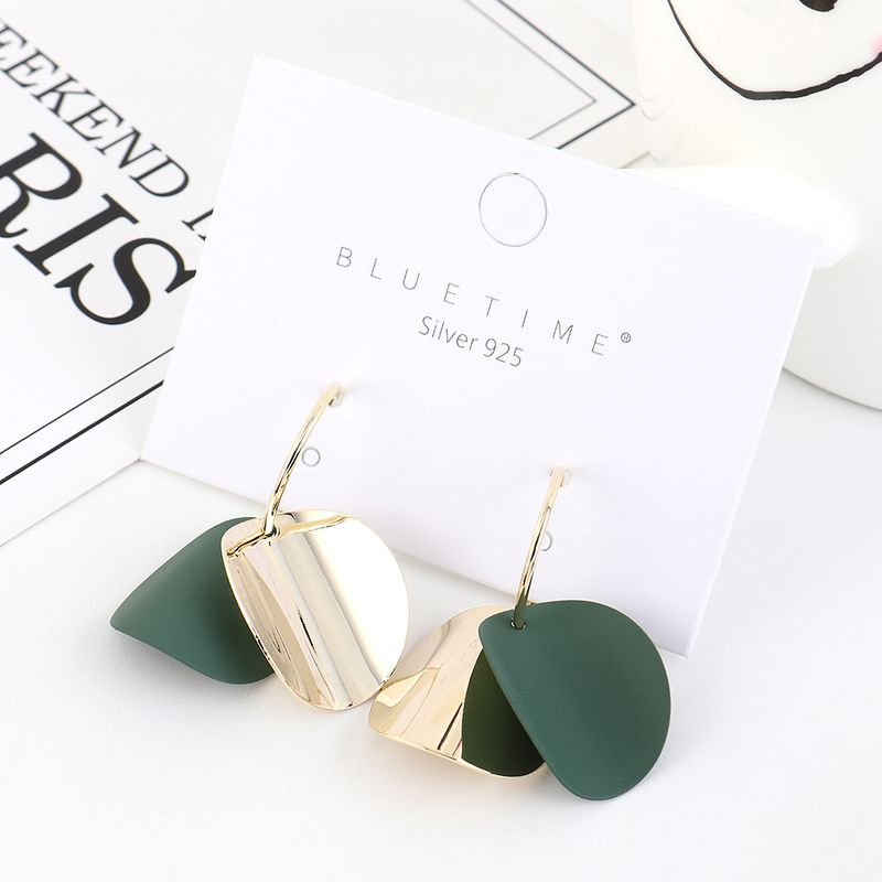 Korean Fashion Simple and Pure Gold Matte S925 Silver Earrings NHPS193502