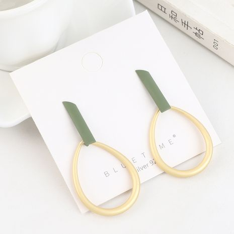 Fashion Gold Plated Creative Matte Hollow Circle S925 Silver Earrings NHPS193509's discount tags