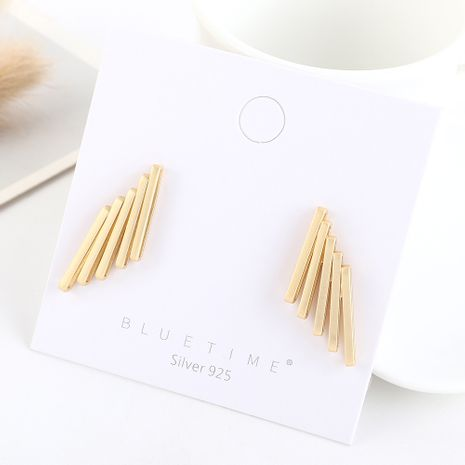 Simple gold-plated creative fashion S925 silver earrings NHPS193514's discount tags