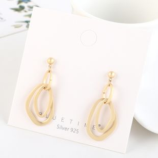 Gold-plated fashion creative hollow S925 silver earrings NHPS193515's discount tags