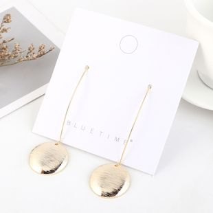Korean gold-plated wild fashion disc earrings NHPS193527's discount tags