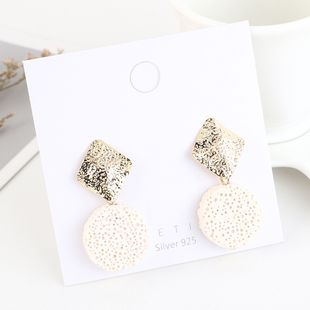 Gold Plated Fashion Creative Round Stone S925 Silver Earrings NHPS193529's discount tags