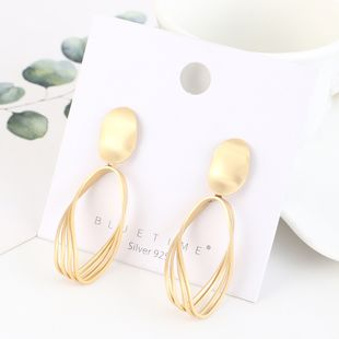 Real gold plated simple fashion hollow S925 silver earrings NHPS193534's discount tags