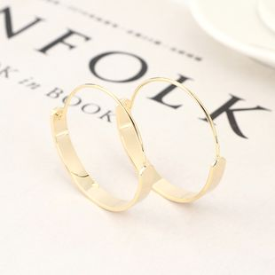 Real gold-plated creative wild large circle cutout earrings NHPS193535's discount tags