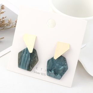 Korean fashion minimalist real gold-plated creative resin S925 silver earrings NHPS193545's discount tags