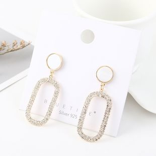 Korean creative gold plated resin hollow S925 silver earrings NHPS193546's discount tags
