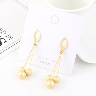 Vintage Tassel Plated Real Gold Fashion Balls S925 Silver Earrings NHPS193552's discount tags