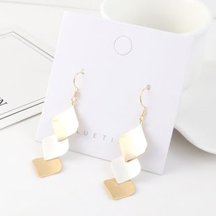Creative fashion wild gold-plated tassel small lotus leaf earrings NHPS193556's discount tags