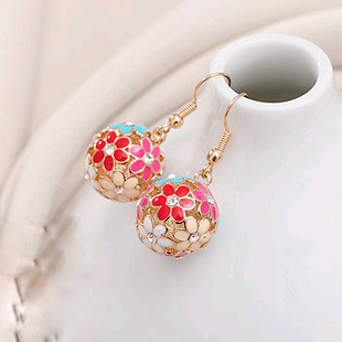 Boutique Korean delicate super beautiful flower cluster earrings NHSC193689's discount tags