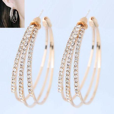 Delicados Aretes de moda coreana con diamantes NHSC193686's discount tags