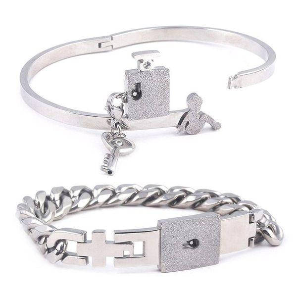 Valentine's Day Couple Lock Bracelet Wholesale Bracelet Love Lock Bracelet Gift NHRJ193580